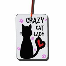 Crazy Cat Lady Air Freshener | Cool | Fresh
