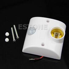 E27 220V Infrared Motion Sensor Automatic Light Lamp Holder Switch