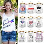 Summer Womens Emoji Tank Tops Vest Blouse Casual Sleeveless Cartoon Crop T-Shirt