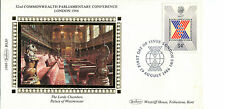 19 AUGUST 1986 COMMONWEALTH CONFERENCE BENHAM SILK FIRST DAY COVER LONDON SW1