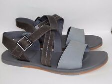UGG Mens Tustin Leather Sandals Metal Gray Size 12US New In Box