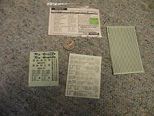 Walthers decals HO Freight 47-47A DRGW Rio Grande cement hopper black A63