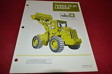 Terex 72-21 Loaders Loader Dealer's Brochure DCPA4