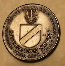 20th Special Forces Group Airborne Green Berets Serial #409 Army Challenge Coin