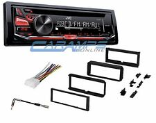 JVC CAR STEREO RADIO CD PLAYER WITH COMPLETE DASH INSTALLATION KIT & WIRING