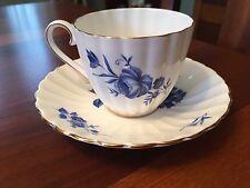 Vintage Blue Rose Tea Cup & Saucer Royal Tuscan Fine Bone China, Wedgwood Group
