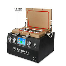 "5IN1 12"" PUMP COMPRESSOR TOUCH SCREEN VACUUM OCA LAMINATING DEBUBBLE  MACHINE"