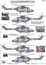 Berna Decals 1/72 WESTLAND LYNX Mk.4 Helicopter Aeronavale French Navy