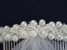 Holy Communion, Ivory Bridal Comb with short veil