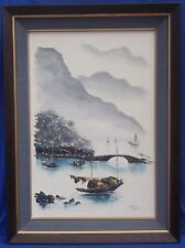 "Original Oriental Oil on Canvas Painting Signed by Artist ""Peter"""