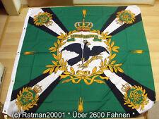 Fahnen Flagge Standarte Grün mit Kreuz Preußen Premium - 150 x 150 cm