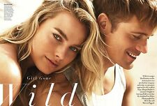 Margot Robbie & Alexander Skarsgard 10pg + VOGUE magazine feature, clippings