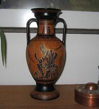 Vintage Handpainted Greek Vase Amphora Hermes Hera Artemis Detailed EUC