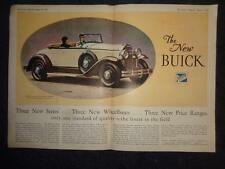 1930 BUICK SPORT ROADMASTER Foldout Advertisement and 1930 HUPMOBILE SIX AD