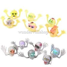 12Stk. Kunststoff Geist-Kopf Handpuppen Handspielpuppe Karneval Halloween