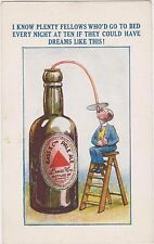 RARE ca1905 BASS CO PALE ALE BEER UNUSED POSTCARD ENGLAND UK BEER JAGG COMIC USA