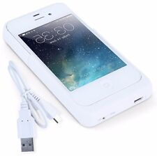 Blanc 1.900 ma/h iPhone 4/4s batterie rechargeable case