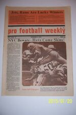 1972 PRO FOOTBALL Weekly SAN DIEGO CHARGERS vs DETROIT LIONS Mel FARR No Label