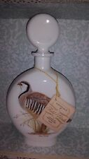 Collectible Glass Whiskey Decanter 1969 FIELD BIRDS J W.Dant - Chukar Partridge