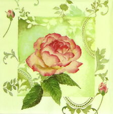 4x Single Table Paper Napkins for Party, Decoupage, Vintage Enchanting Roses
