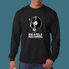 Roc A Fella  Long Sleeve t shirt  S -  2XL  Hip Hop band Label Jay Z Kaye West