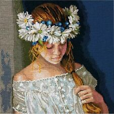 """Dimensions Counted Cross Stitch Kit 12"""" x 12"""" ~ INNOCENCE #70-35322 Sale"""
