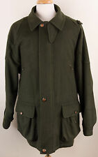 Vintage Beretta Sport Moessmer Green Wool Hunting Jacket Made in Italy Mens 52