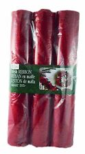 KIRKLAND SIGNATURE 3 ROLLS OF MESH HOLIDAY CRAFTING RIBBON VARIETY OF COLORS