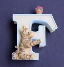 Disney Classic Winnie the Pooh Nursery Figurine Alphabet Letter F missing Flower