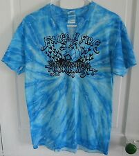 Falcon Fire Volleyball Tournament Handmade Blue Tie Dye T-Shirt M Medium
