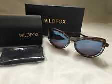 BNIB WILDFOX CHANTON DELUXE COCONUT CAT EYE SUNGLASSES RP £165 MIRRORED LENS