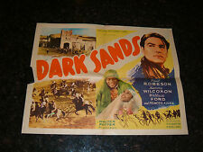 "DARK SANDS Original 1938 Movie Poster, Style B, 22"" x 28"", C7 Fine/Very Fine"