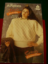 Patons wool knit sweater patterns men women vest knitting book