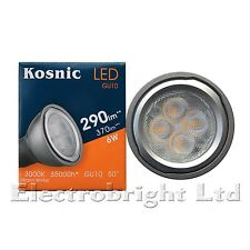1x Kosnic 6w watt LED GU10 Power Warm White 3000k Superbright spot bulb 370lm
