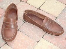 "Men's""GAP""Brown  Leather Slides Slip-on Loafers Moccasins Shoes size 9.5M NICE!"