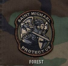 PROTECT US SAINT MICHAEL - FOREST - TACTICAL BADGE MORALE MILITARY PATCH