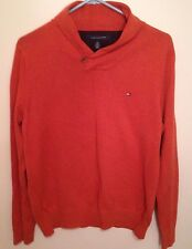 Orange Tommy Hilifiger Sweater Shirt - Sz: S - Single Top Button