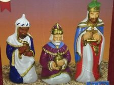new christmas blow mold lighted plastic yard decor 3 pc wisemen kings nativity