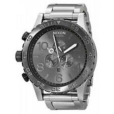 New Authenitc NIXON 51-30 CHRONO Watch Silver Gunmetal  A083-1762 A0831762