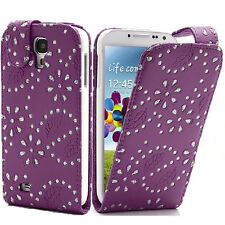 Bling Diamond GEM Glitter Leather Top Flip Case Cover For  SAMSUNG GALAXY Phones