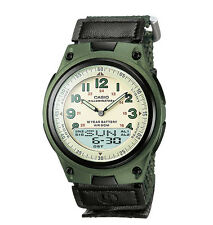 Casio AW80V-3BV, Combo Watch, 30 Page Databank, Green Nylon, 10 Year Battery
