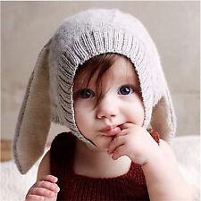 Baby Fall Winter Knit Beanie Hat Kids Long Ear Rabbit Headgear Cap Xmas Gift