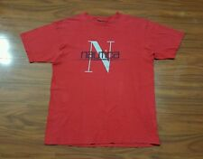 VTG NAUTICA Classic Spell Out Shirt Yacht Sailing Gear Competition Sport men's L