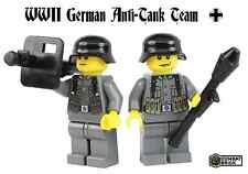 WWII German Anti-Tank 2 men team WW2 Soldiers lot made w/ real LEGO® Minifigure