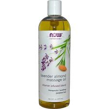 Lavender Almond Massage Oil Organic Product 16 oz by Now Solutions Free Shipping