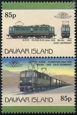 1962 DR Class E42 / Class 242 Electric Bo-Bo Train Stamps (Davaar)