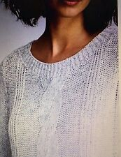 NWT XL Eileen Fisher Cotton Blend Pull Over Sweater Moon Pullover $238+