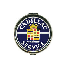 GM Cadillac Service Logo Mirror Make Up Metall Taschenspiegel Schminkspiegel NEU