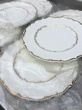 "6 NOS / UNUSED!!! Royal Doulton Richelieu 10 1/2"" Dinner Plates, #4957 (#2nd Set"
