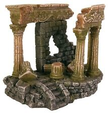 Roman Ruins with Pillars Aquarium Ornament Fish Tank Decoration 13cm